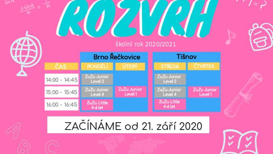 Registrace do ZuZu kurzů je spuštěna 2020/2021
